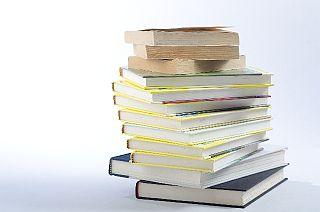 書籍の積み上げ